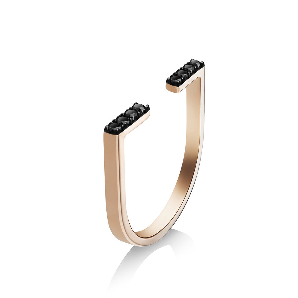 Selin Kent 14K Anais Ring with Black Diamonds
