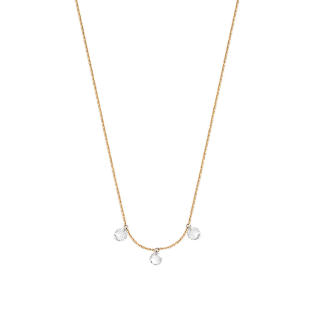 Selin Kent 14K Artemis Necklace with Three Rose Cut White Diamonds