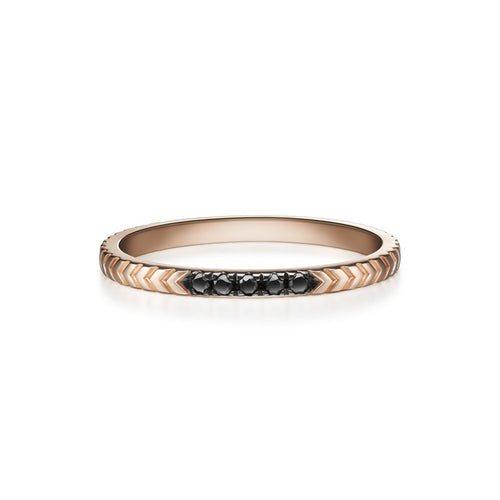 Selin Kent 14K Arya Ring in Rose Gold with Black Diamonds
