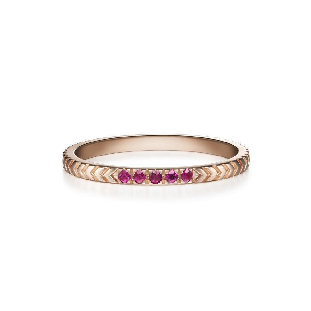 Selin Kent 14K Arya Ring with Rubies