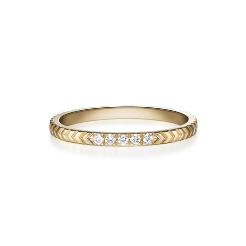 Selin Kent 14K Arya Ring with White Diamonds