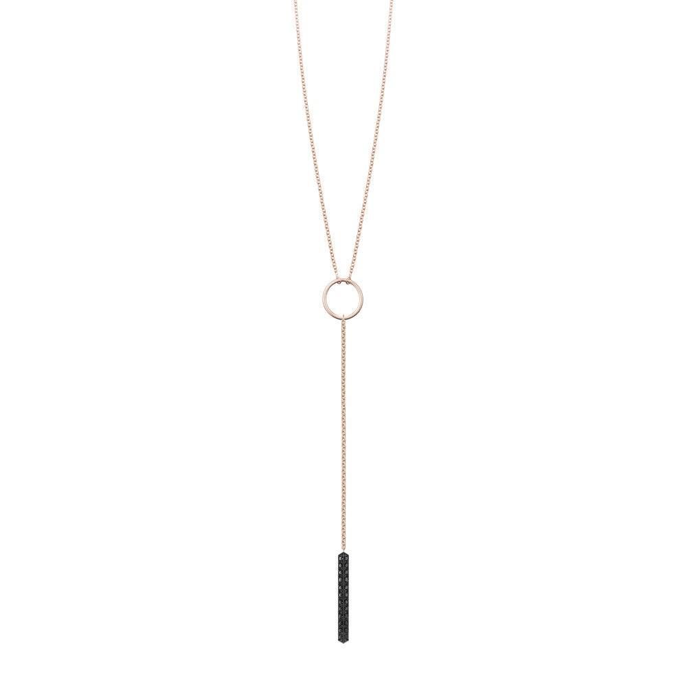 Selin Kent 14K Ava Lariat with Black Diamonds