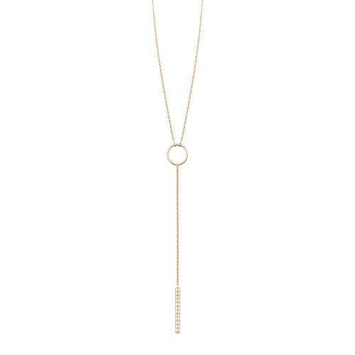 Selin Kent 14K Ava Lariat with White Diamonds