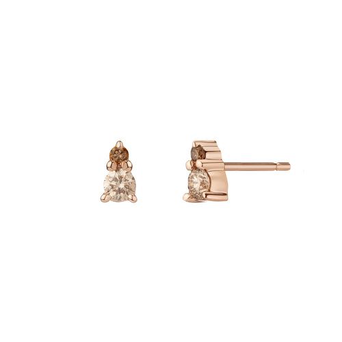 Ayda Studs - Champagne Diamonds