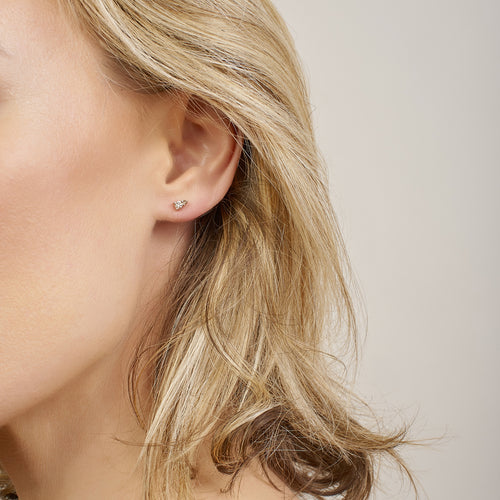 Ayda Studs | Champagne Diamonds