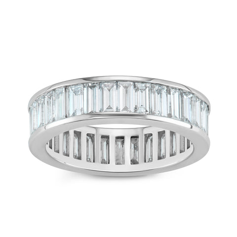 East-West Emerald Cut Engagement Ring