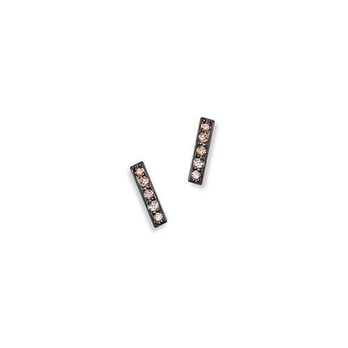 Selin Kent 14K Charlotte Mini Pavé Studs with Champagne Diamonds