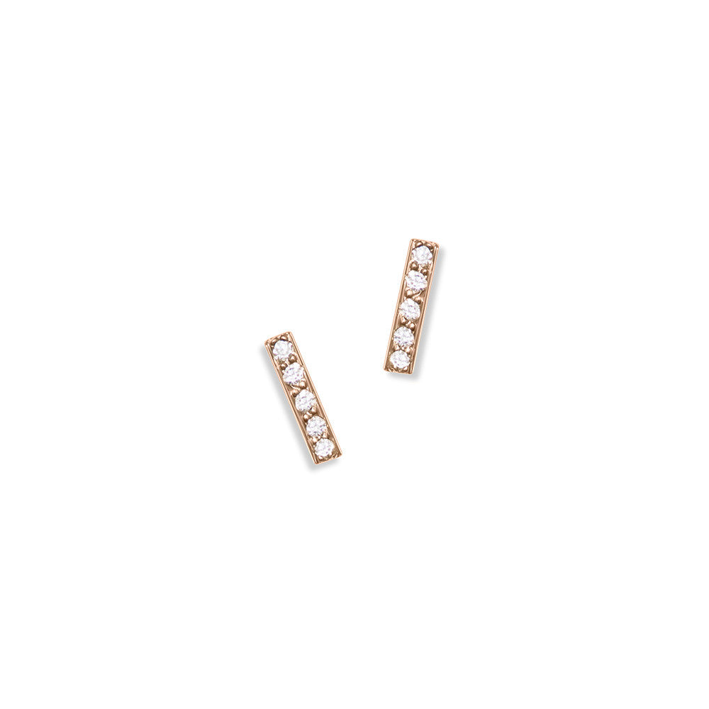 Selin Kent 14K Charlotte Mini Pavé Studs with White Diamonds