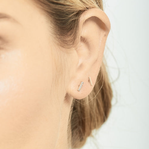 Selin Kent 14K Charlotte Mini Studs - On Model