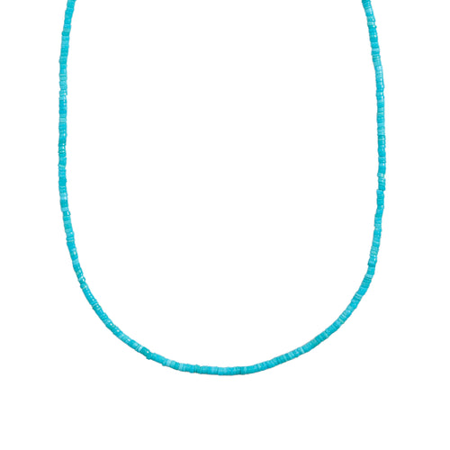 Coretta Necklace ~ Natural Turquoise Beaded Necklace