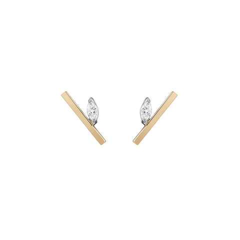 Nikita Huggie Hoops | White Diamonds