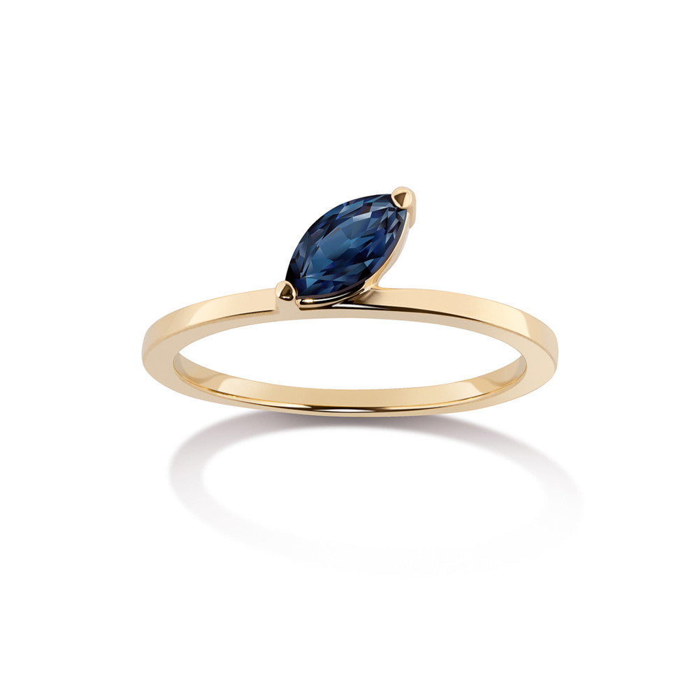 Selin Kent 14K Defne Ring with Sapphire Marquise