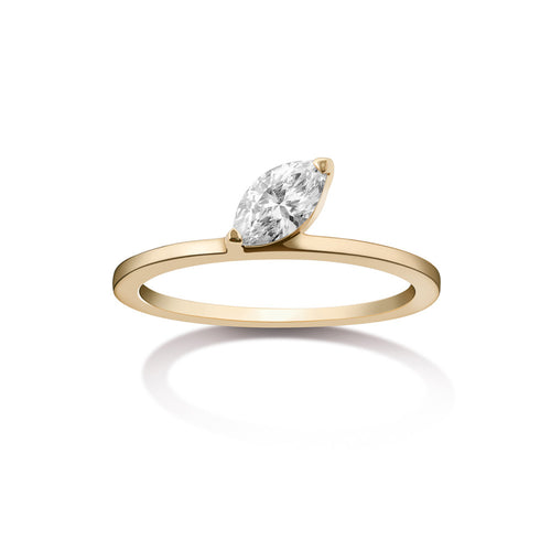 Selin Kent 14K Defne Deluxe Ring with White Diamond Marquise