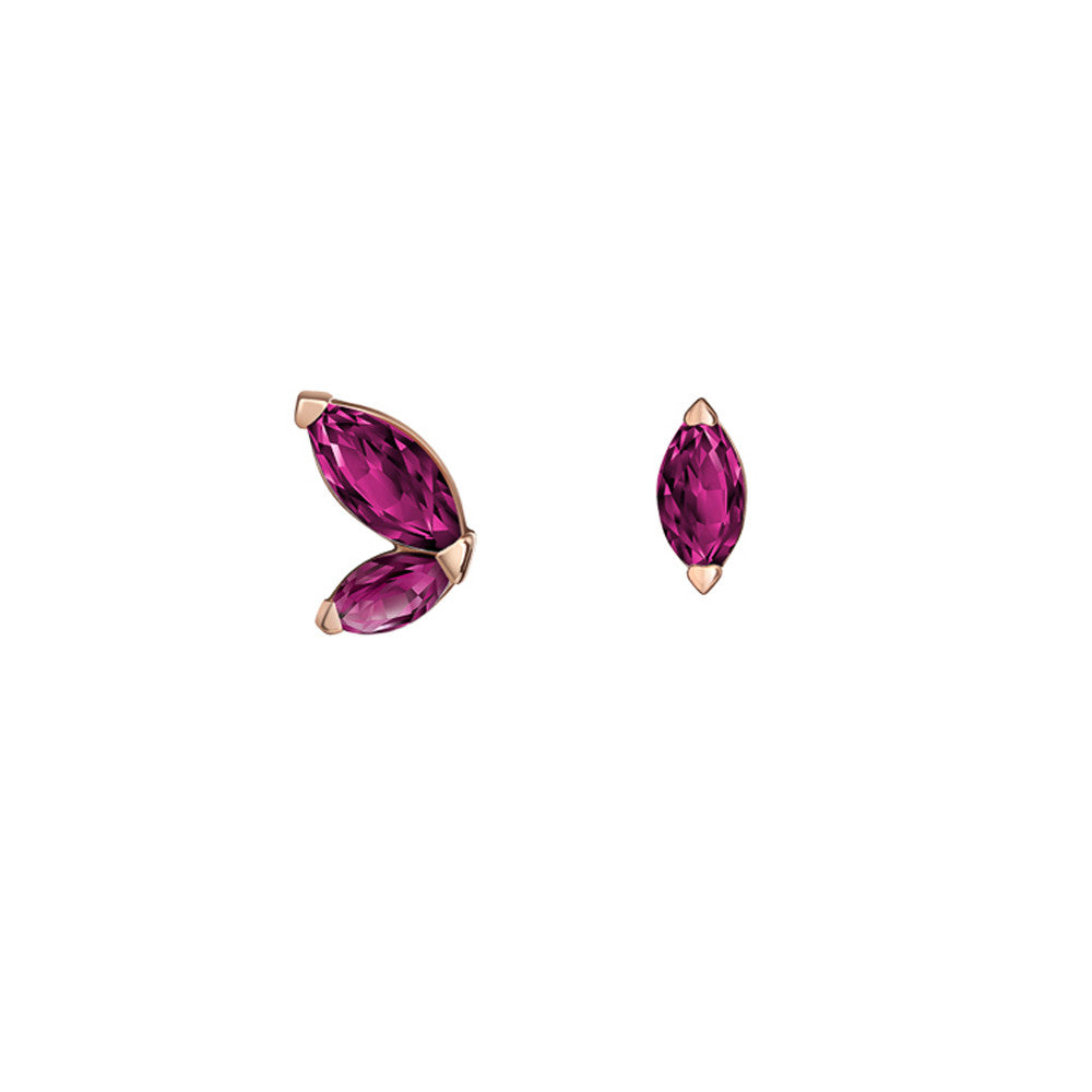 Selin Kent 14K Defne Mismatch Earrings with Ruby