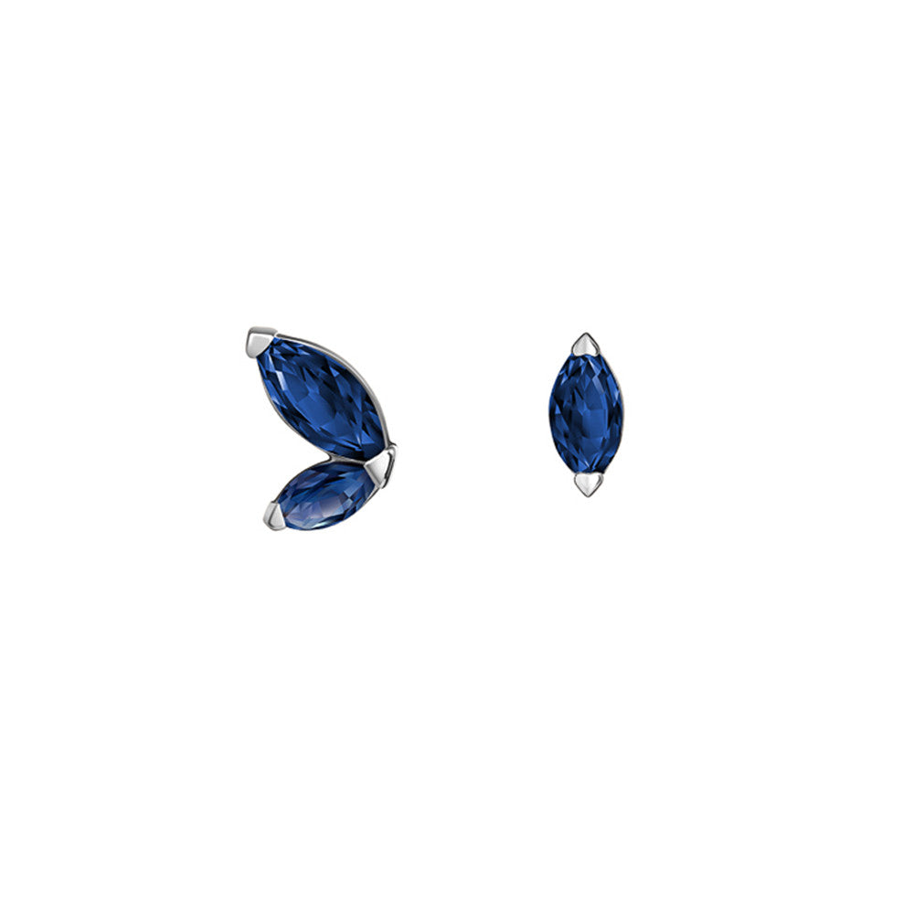 Selin Kent 14K Defne Mismatch Earrings with Sapphire