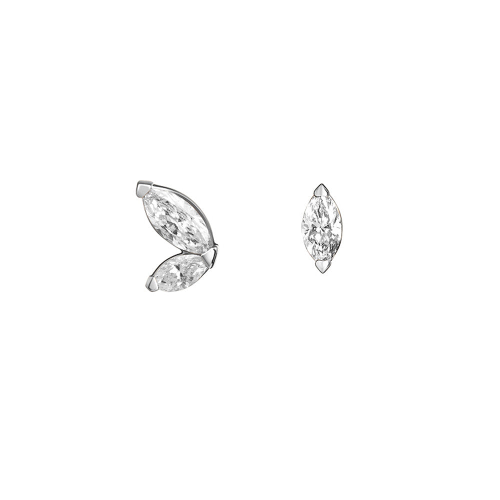 Selin Kent 14K Defne Mismatch Earrings with Diamonds