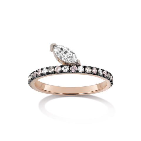 Bossa Nova Diamond Ring