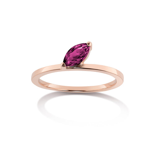 Selin Kent 14K Defne Ring with Ruby Marquise