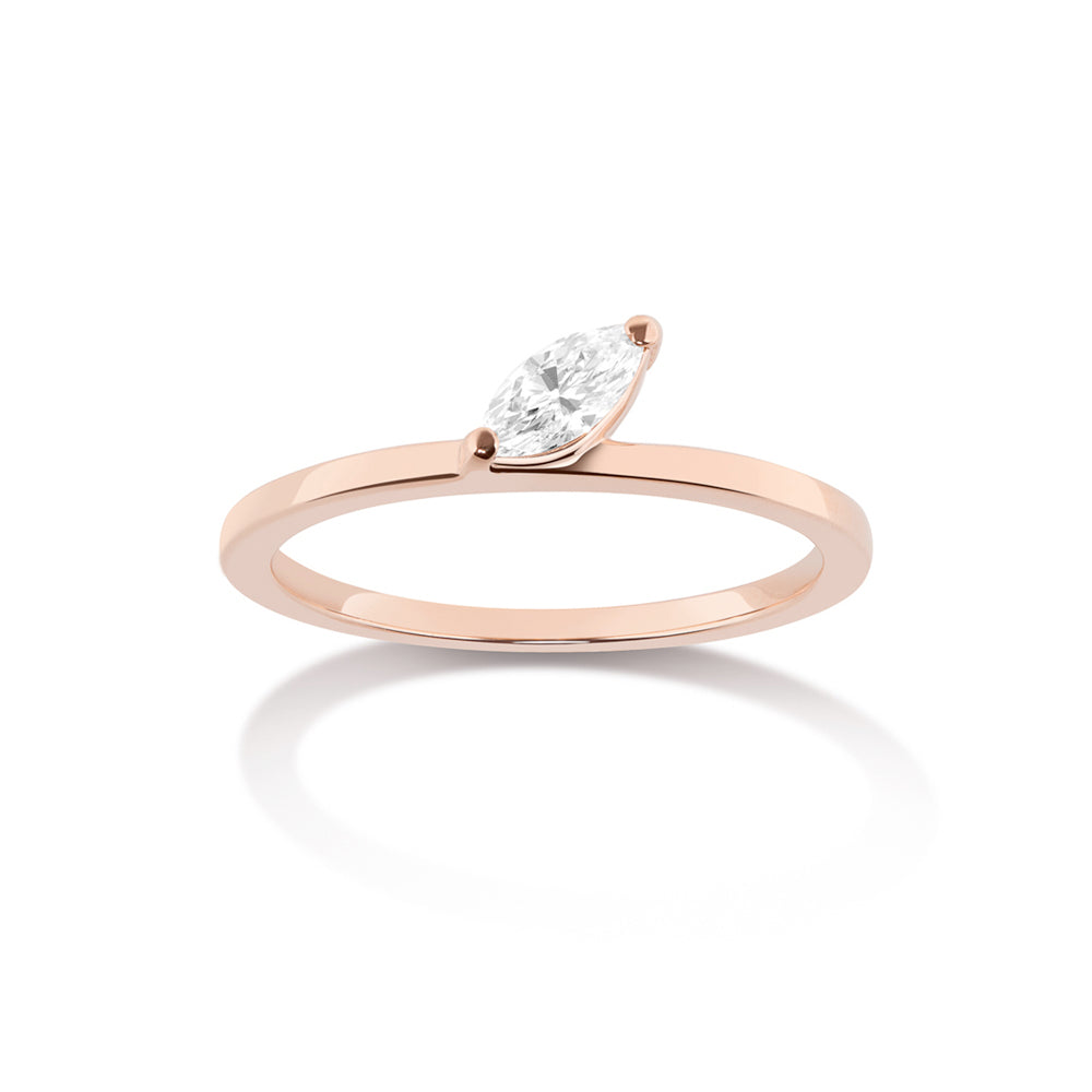 Defne Ring | White Diamond