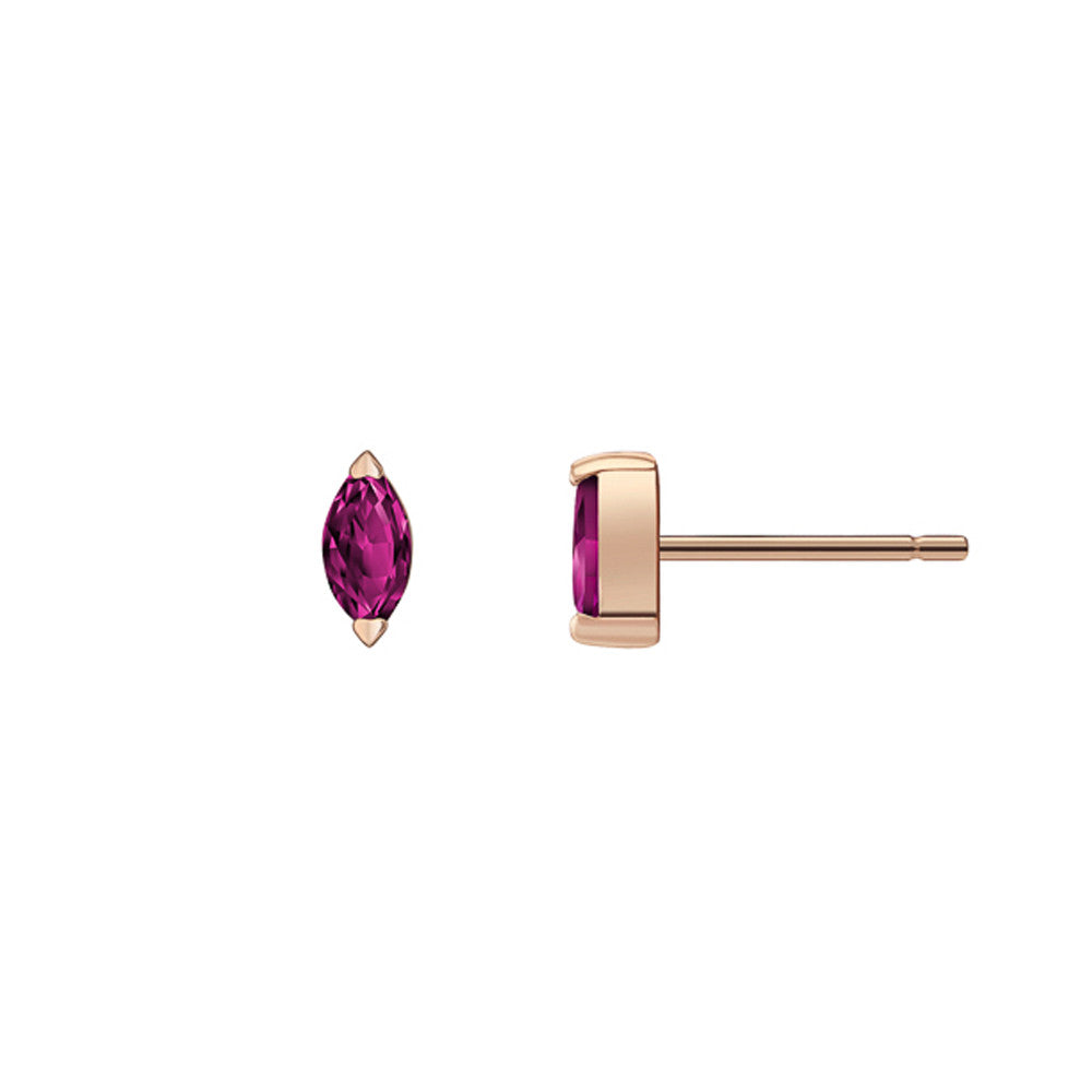 Selin Kent 14K Defne Studs with Ruby Marquise