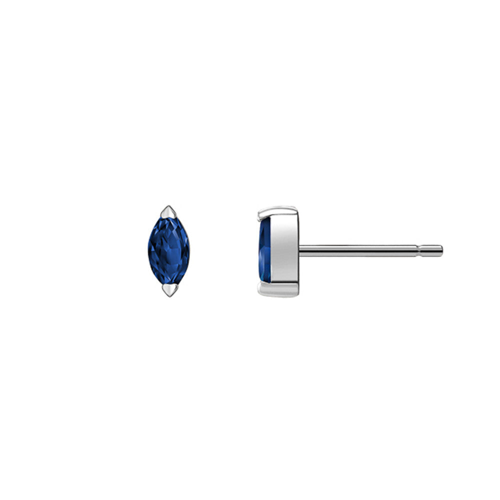 Selin Kent 14K Defne Studs with Sapphire Marquise