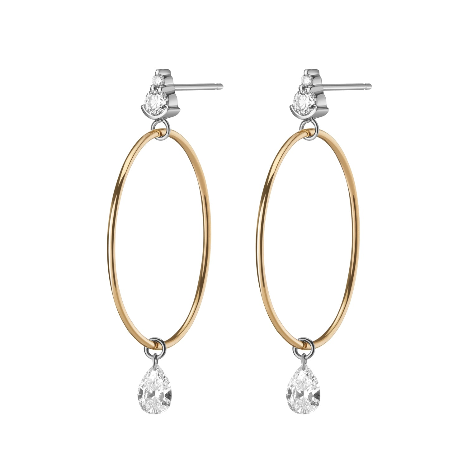 Isabella Stud & Hoop Hybrid Earrings
