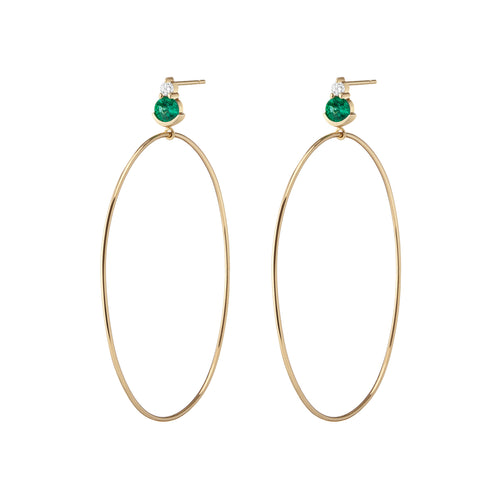 Ayda Hoops - Emerald