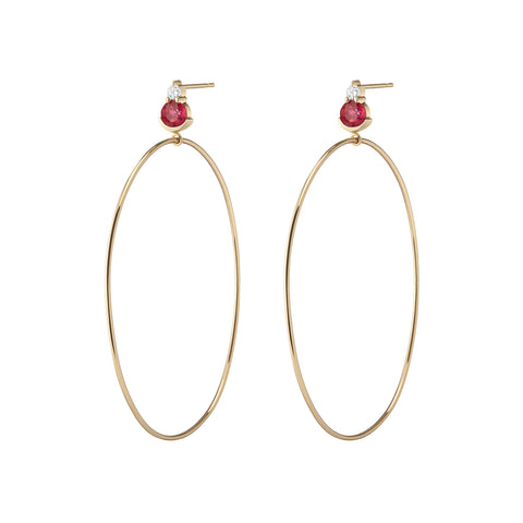 Rosa Earrings | Black Jade & Rubies