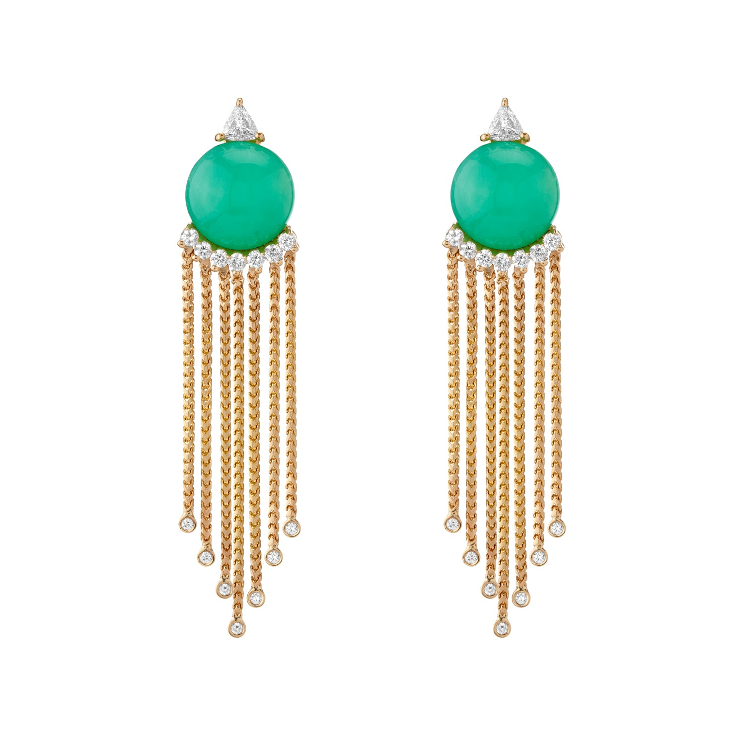 Sema Earrings - Chrysoprase