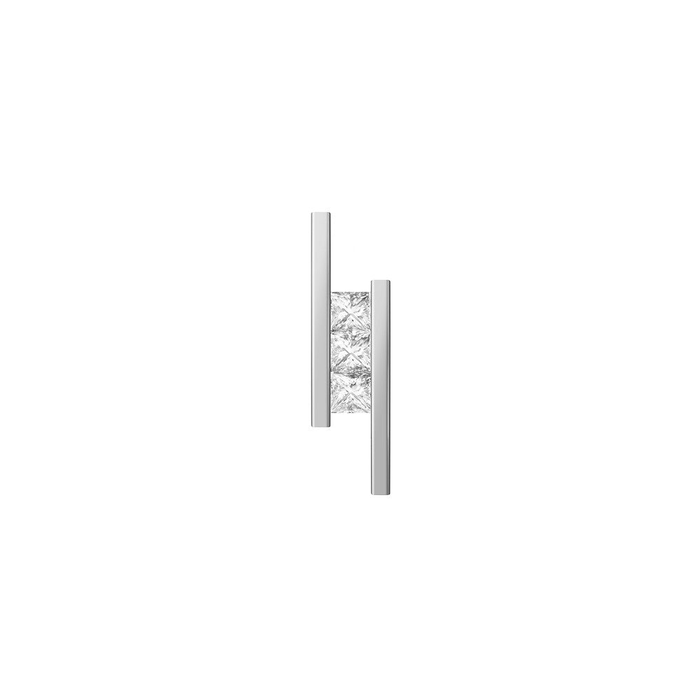 Selin Kent 14K Elena Mini Earring with Princess Cut White Diamonds