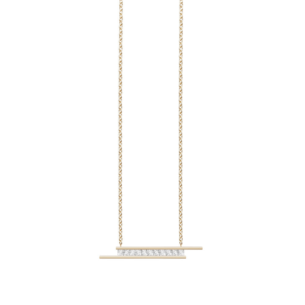 Selin Kent 14K Elena Necklace with Princess Cut White Diamonds