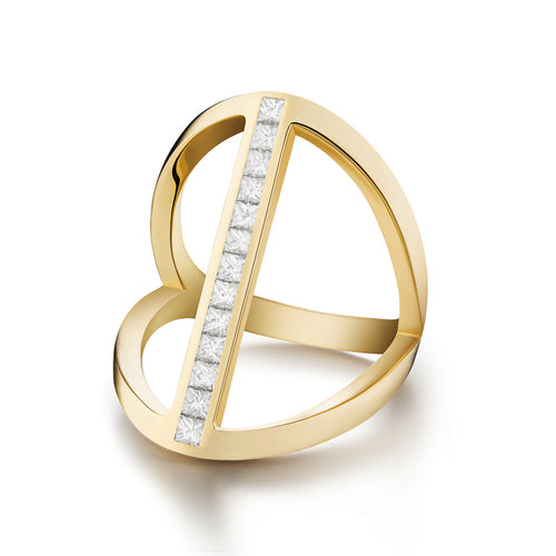 Selin Kent 14K Elena Ring with Princess Cut White Diamonds