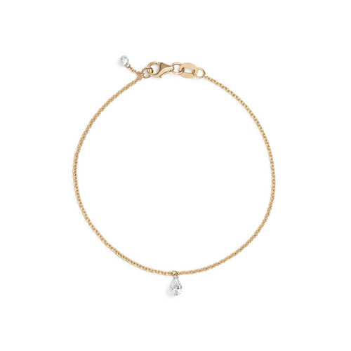 Selin Kent 14K Ersa Bracelet with Pear White Diamond
