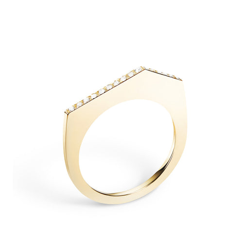 Selin Kent 14K Fiona Pavé Ring with White Diamonds