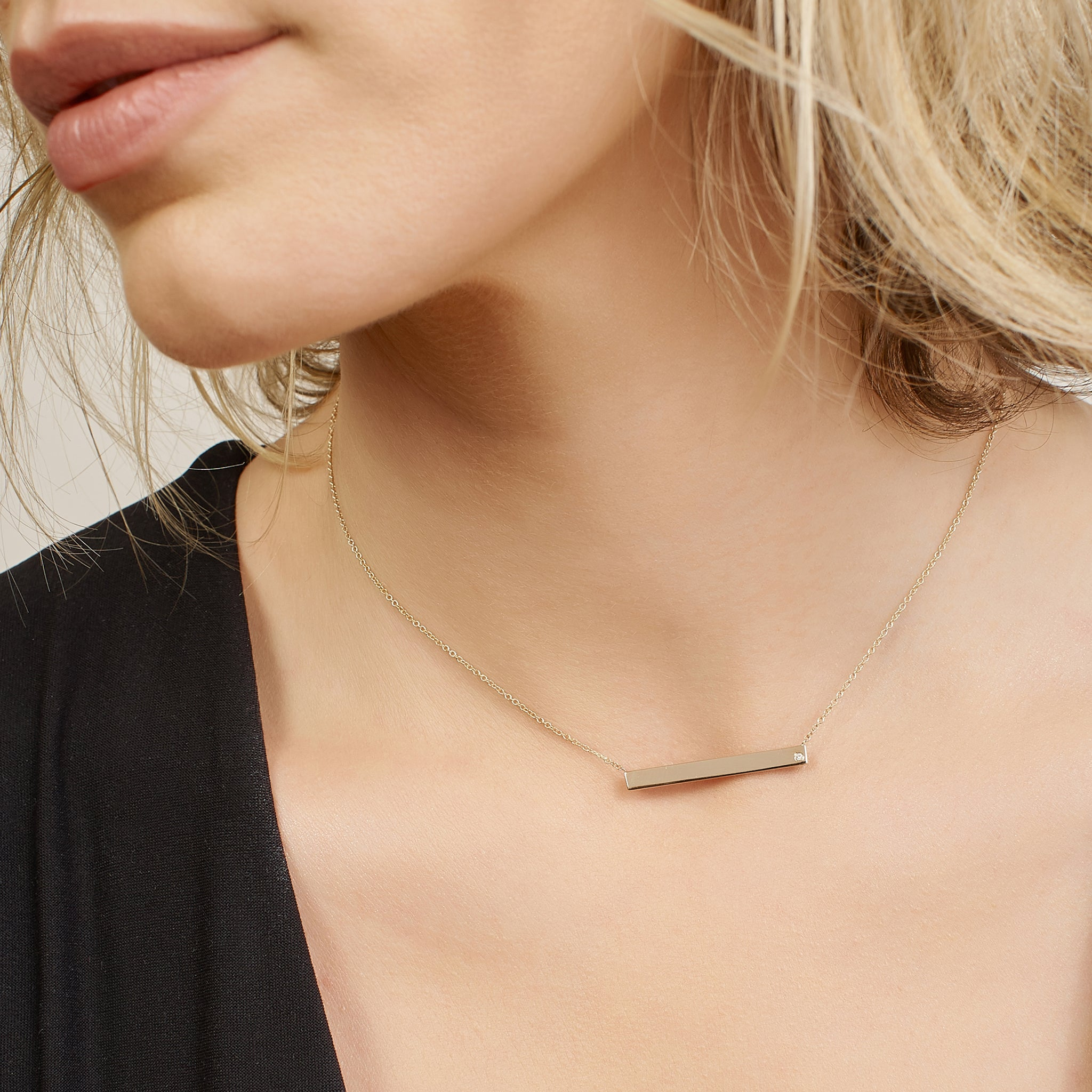 Gaia Horizontal Bar Necklace