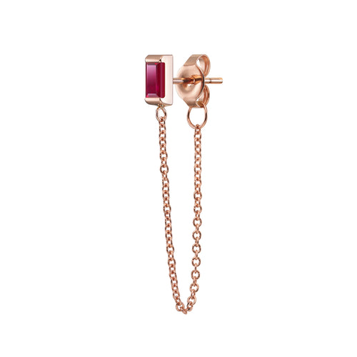 Galana Chain Earrings | Ruby