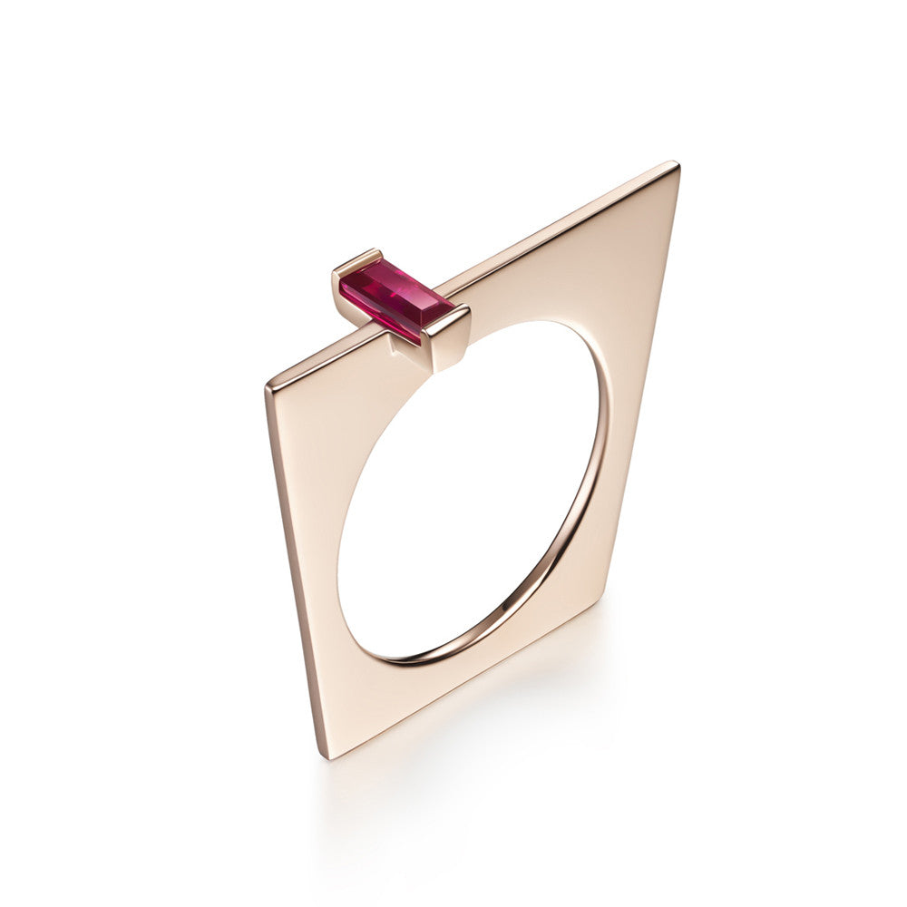 Selin Kent 14K Galana Ring with Ruby Baguette