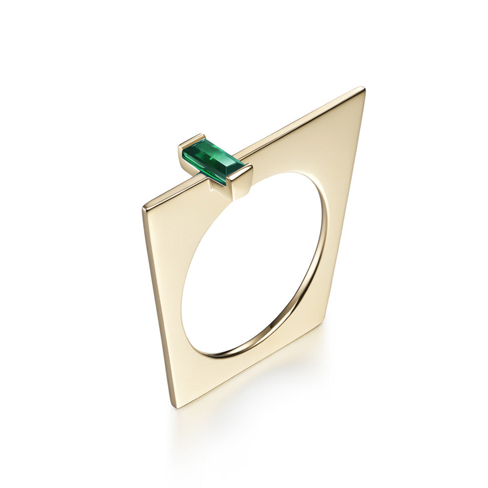 Selin Kent 14K Galana Ring with Emerald Baguette