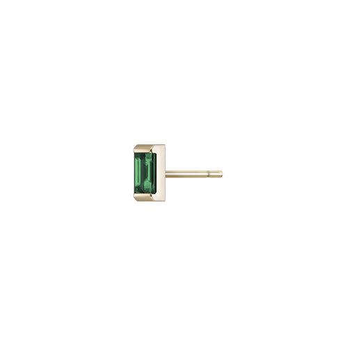 Selin Kent 14K Galana Stud with Emerald Baguette