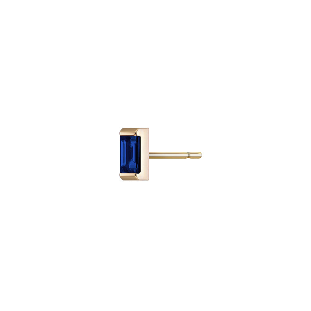 Selin Kent 14K Galana Stud with Sapphire Baguette