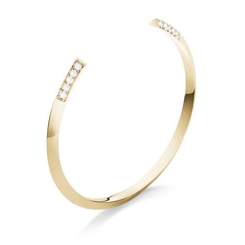 Selin Kent 14K Greta Cuff with White Diamonds