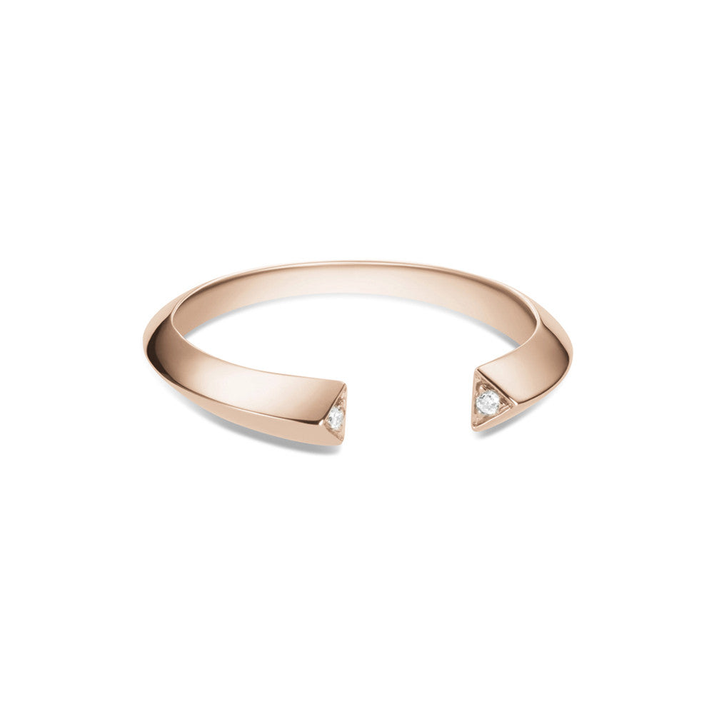 Selin Kent 14K Greta Ring with Two White Diamonds