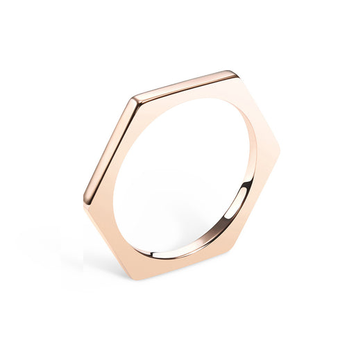 Selin Kent 14K Hex Ring