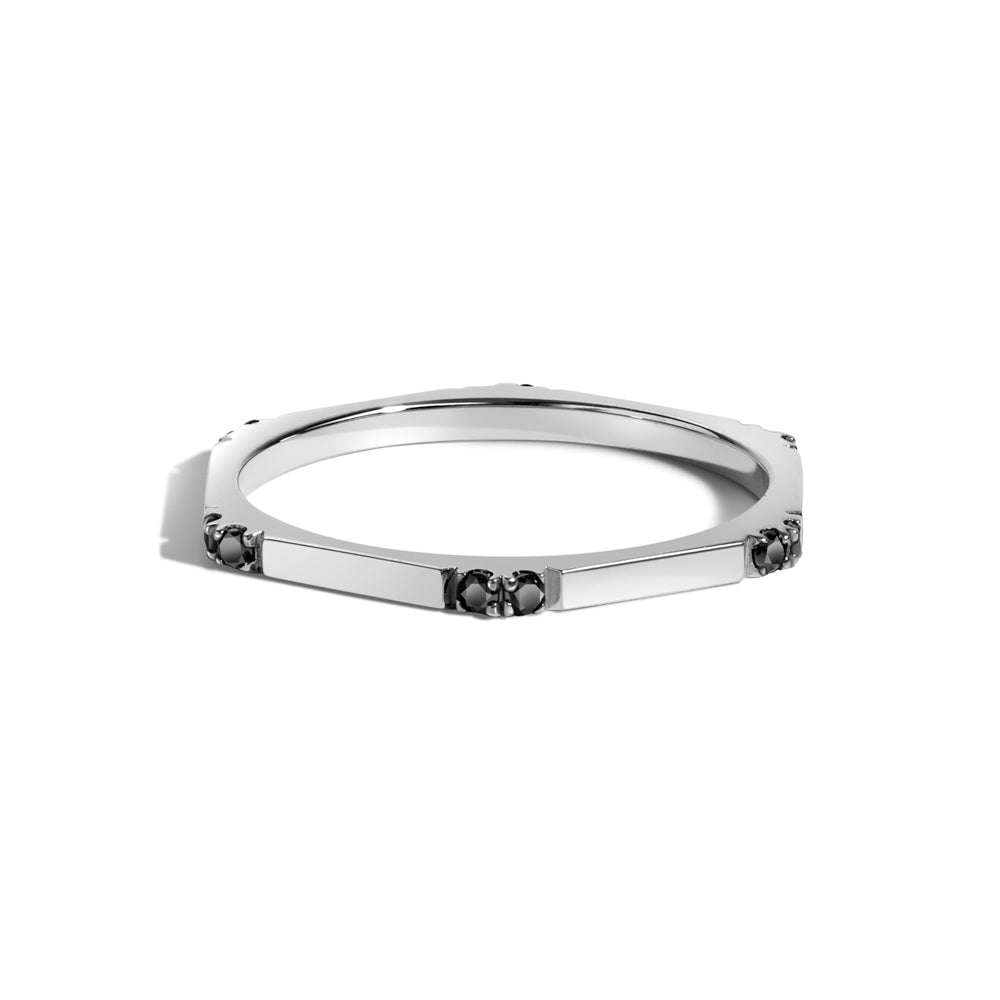 Selin Kent 14K Hex Ring II with Black Diamonds