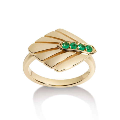 Tourmaline Deco Ring
