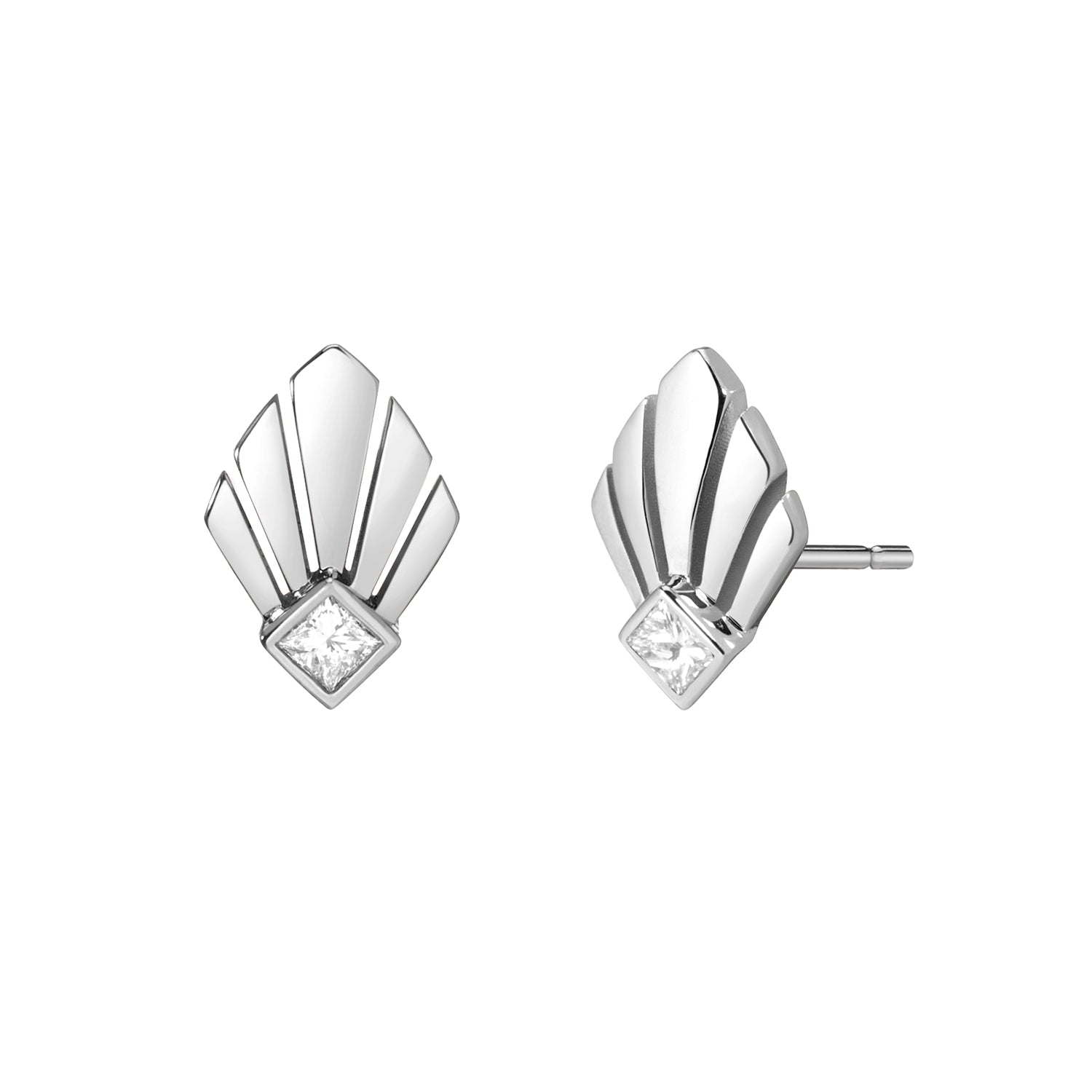 Josephine Studs - White Diamond