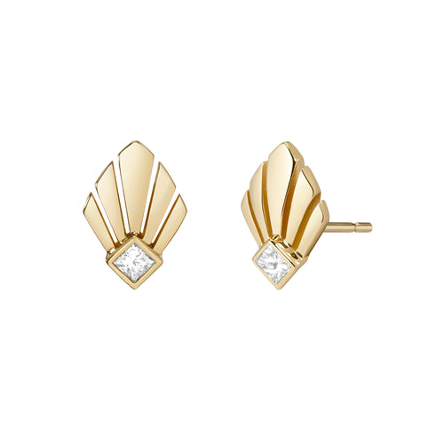 Josephine Studs | White Diamond
