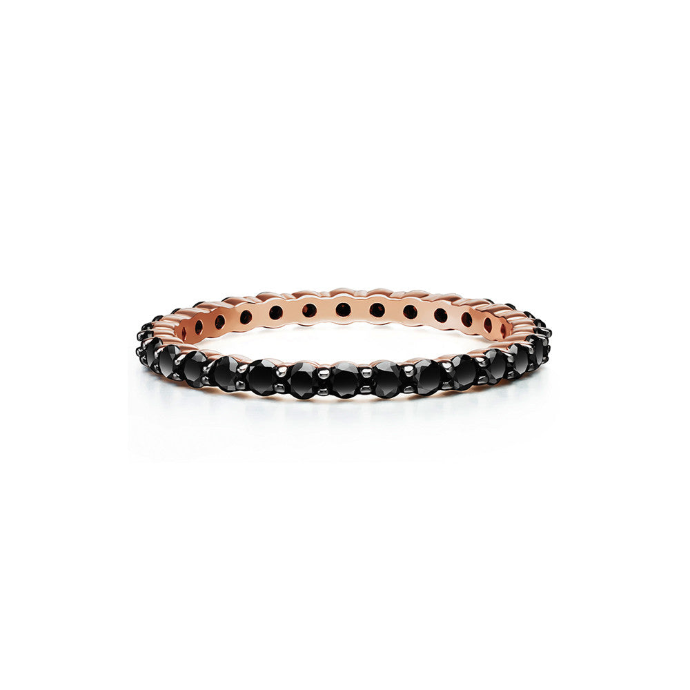 Selin Kent 14K Lara Ring with Black Diamonds