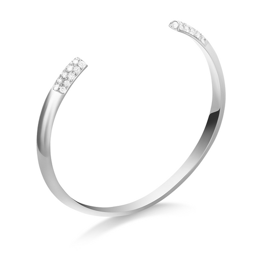 Selin Kent 14K Louise Cuff with White Diamonds