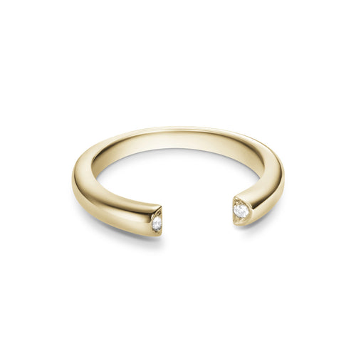Selin Kent 14K Louise Ring with Two White Diamonds